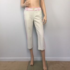 Lilly Pulitzer Main Line Fit Seersucker Crop Pants